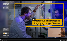 Watch Dr. Ian Turner: Interactive Teaching and Engaging Large Classes